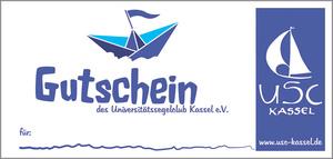 Gutschein für Ausbildungs und Fortbildungsangebote des USC-Kassel. Ein Geschenk fürs Leben