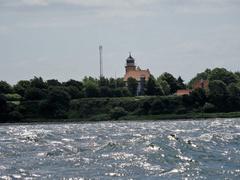 Blick auf die Nordspitze der dänischen Insel Als bei rauher See.