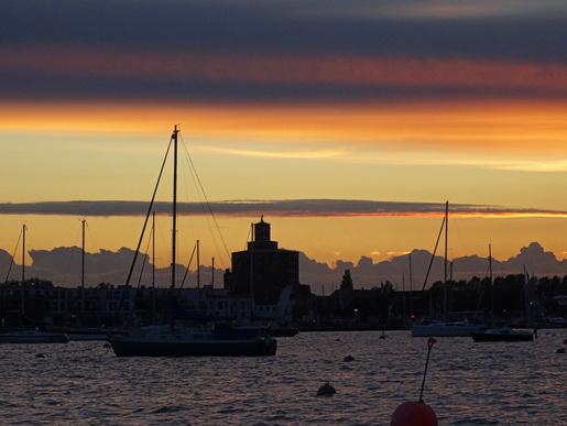 Saisonabschied von der Ostsee. Eckernförde im Abendlicht
