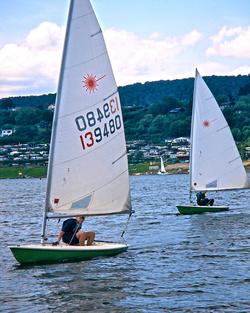 Ein guter Sommer für die Laser: Sonne, Wind und viel frisches Wasser im See