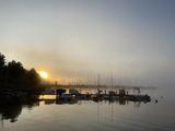 Sonnenaufgang hinter dem Yachthafen Eckernförde