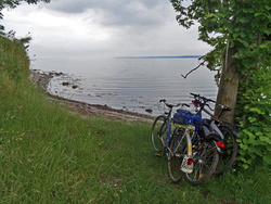 Die Eckernförder Bucht hat lauschige Plätze, die man mit dem Fahrrad erreichen kann.